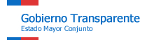 Gobierno Transparente: Estado Mayor Conjunto